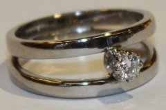 Dobbel ring m diamant